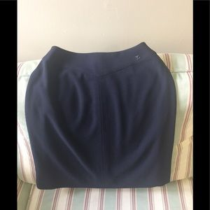 Chanel Navy Pencil Skirt.